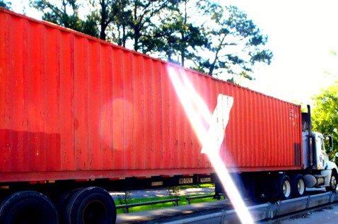 Truck transporting recycled scrap metal