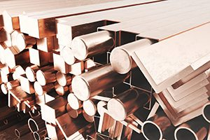 Copper steel products in different shapes and sizes